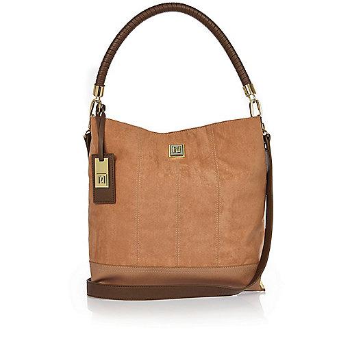 Tan slouch handbag
