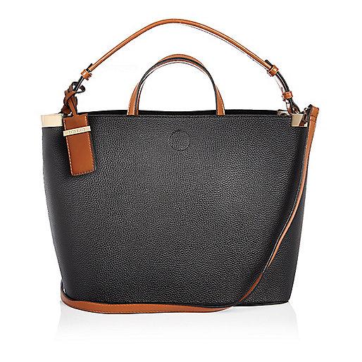 Black slouch bucket handbag
