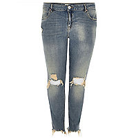 Alannah – Legere Skinny Jeans in mittelblauer Waschung