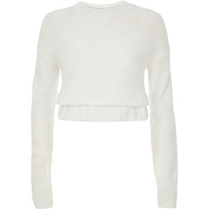 White knit jumper