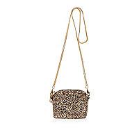 Goldene, glitzernde Handtasche mit Kette