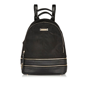 Black zip backpack