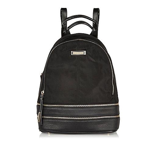 Black zip backpack
