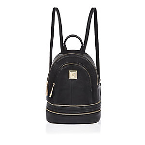 Black square backpack