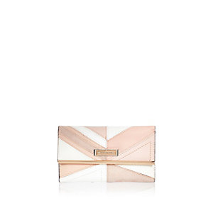 Pink panel foldout purse