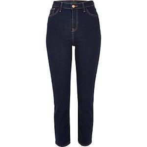 Lori – Skinny Jeans in dunkelblauer Waschung mit hohem Bund