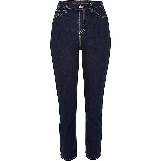 Dark blue wash high rise Lori skinny jeans