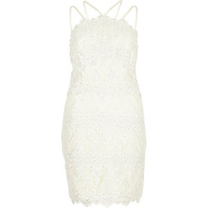 Cream cornelli dress