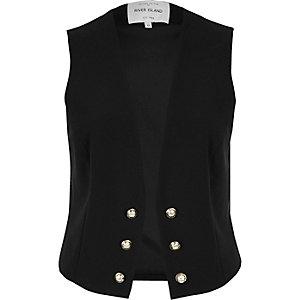 Black military waistcoat
