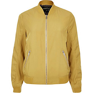 Dark yellow bomber jacket