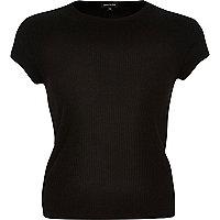 Black '90s ribbed t-shirt