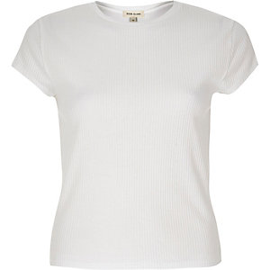 White '90s ribbed T-shirt