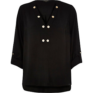 Black popper blouse