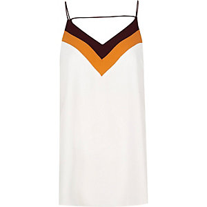 Cream colour block cami