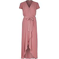 Pink waterfall maxi dress