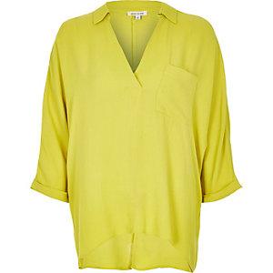 Lime wrap blouse