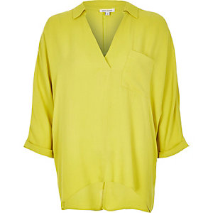 Lime wrap blouse