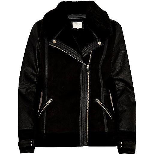 Perfecto en cuir synthétique noir