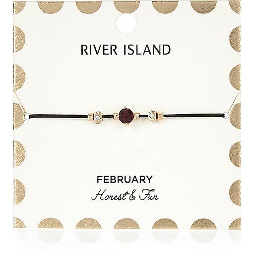 Bracelet violet avec pierre de naissance mois de février