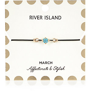 Blue March birthstone bracelet