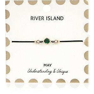 Green May birthstone bracelet