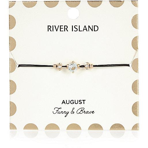 Bracelet vert avec pierre de naissance mois d'août