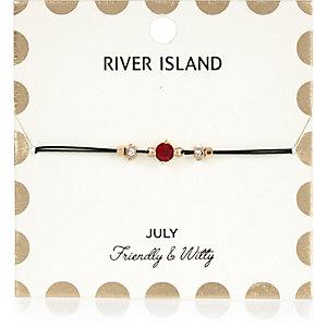 Red July birthstone bracelet