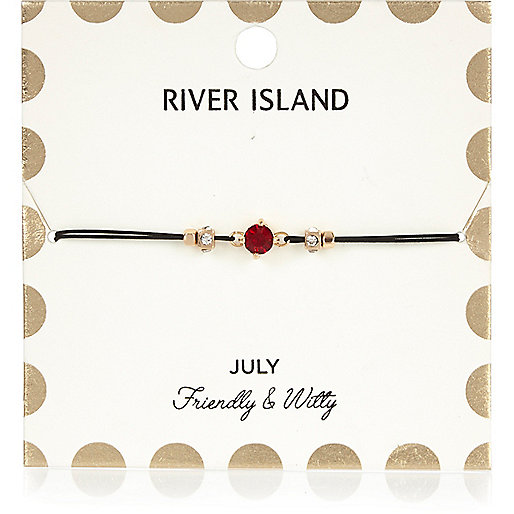 Red July birthstone bracelet