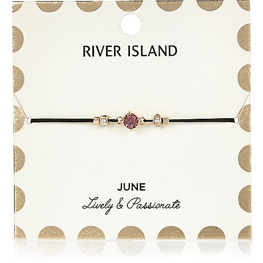 Armband mit Geburtsstein in Lila aus dem Monat Juni