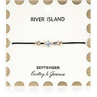 Armband mit blauem Geburtsstein aus dem Monat September