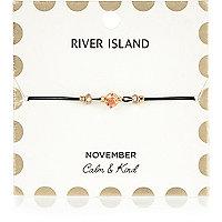 Orange November birthstone bracelet