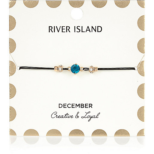 Blue December birthstone bracelet