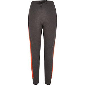Dark grey stripe joggers
