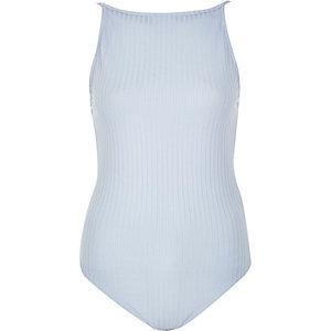 Light blue '90s cami bodysuit