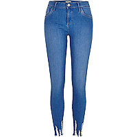 Amelie – Superenge Skinny Jeans in Blau