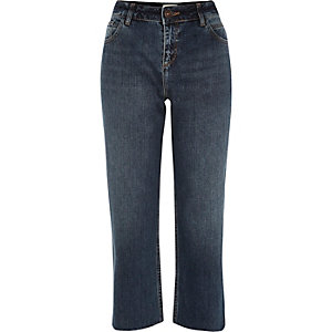 Mid blue wash smart kick flare jeans
