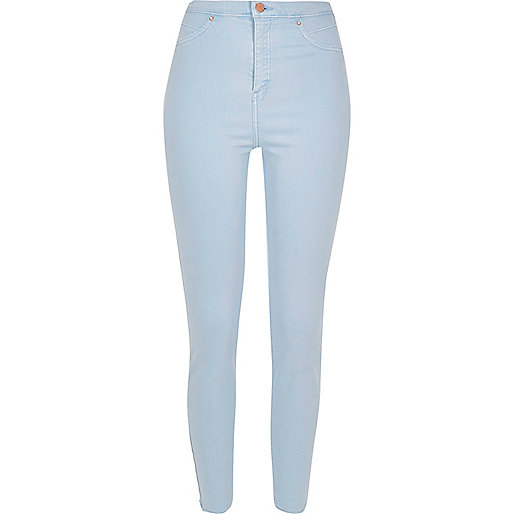 Light blue wash high rise Molly jeggings