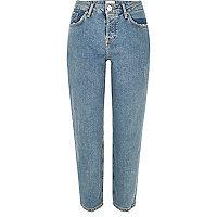 Mid blue wash slim fit jeans