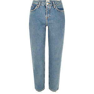 Mid blue wash slim fit jeans