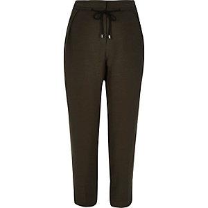 Khaki cord tie trousers