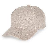 Pale pink wool cap