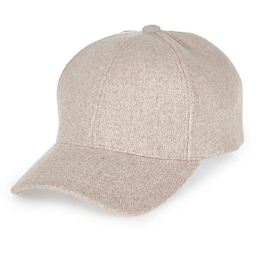 Pale pink wool cap