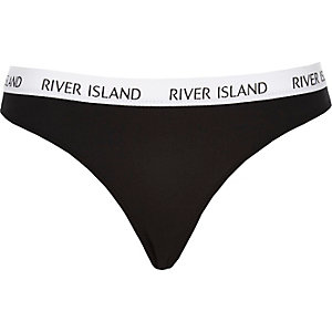 Black brief thong