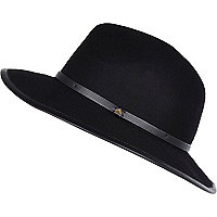 Black bound edge fedora hat