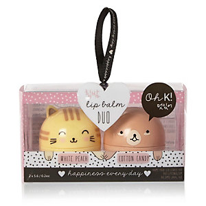 Oh K cute character lip balm duo