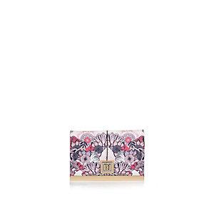 Pink floral print travelcard holder