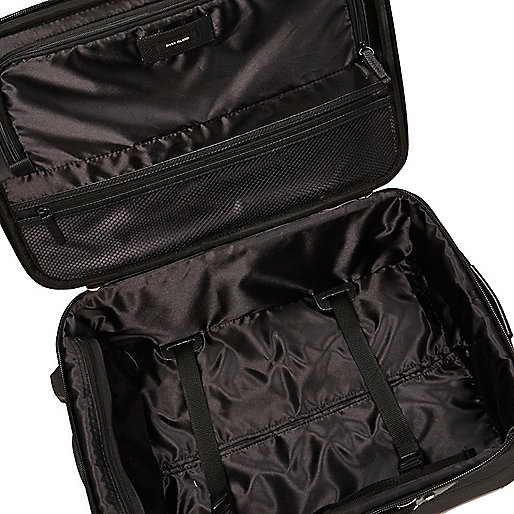 product review river island black patent panel suitcase