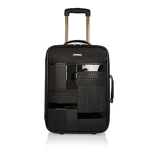 Schwarzer Koffer mit Lackeinsatz
