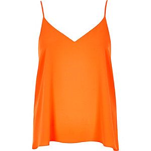Orange V-neck cami
