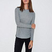 Grey light jersey top